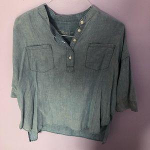 Gap maternity denim shirt